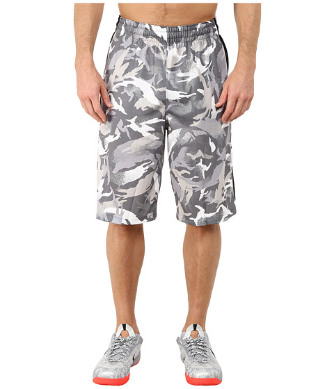 Nike - Elite Stripe Camo Shorts (Tumbled Grey/Night Silver/White/White) Men