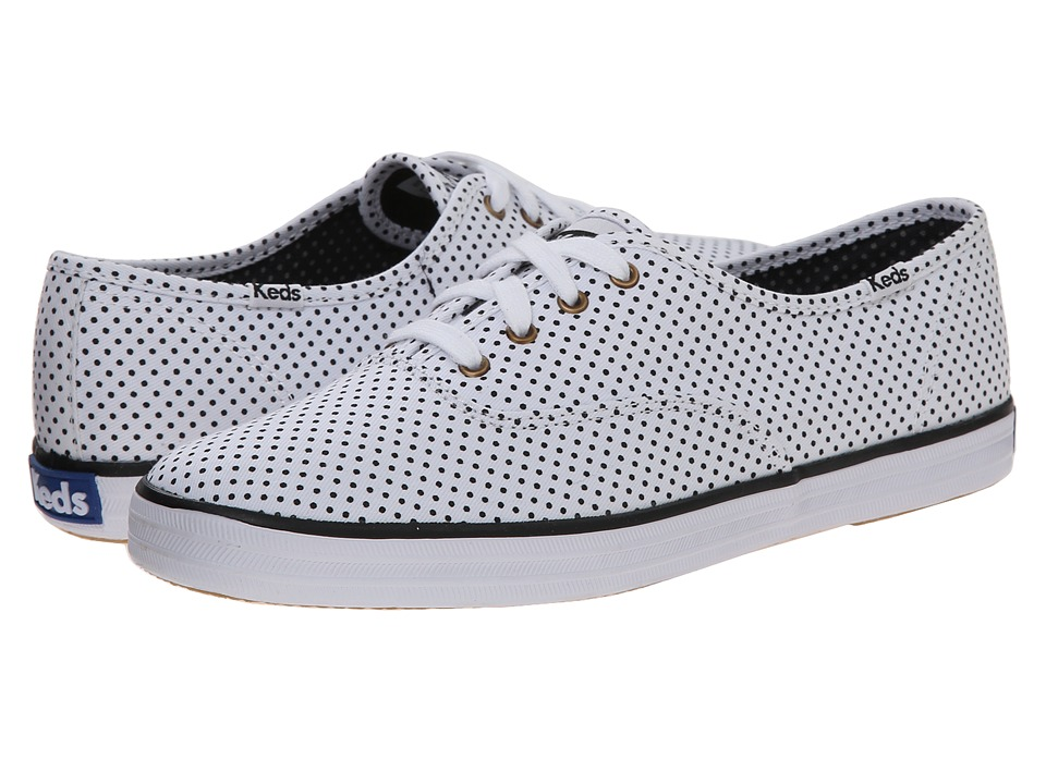Keds Champion Micro Dot White Twill Womens Lace up casual Shoes