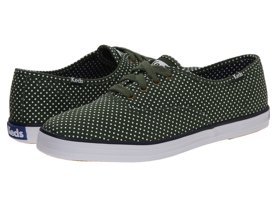 Keds - Champion Micro Dot (Forest Green Twill) Women