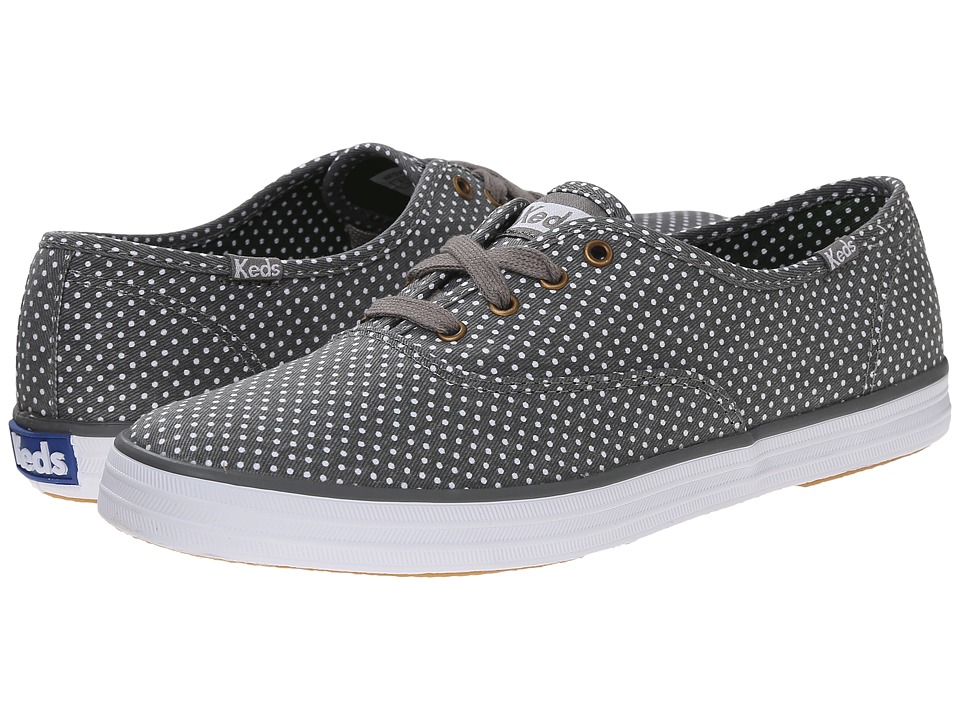Keds - Champion Micro Dot (Gray Twill) Women's Lace up casual Shoes