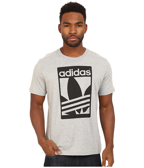 adidas Originals - Street Graphic Tee (Medium Grey Heather/Black) Men
