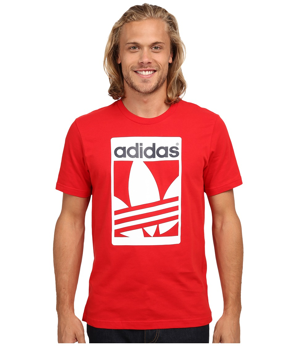 adidas Originals - Street Graphic Tee (Scarlet/White/Collegiate Navy) Men's Short Sleeve Pullover