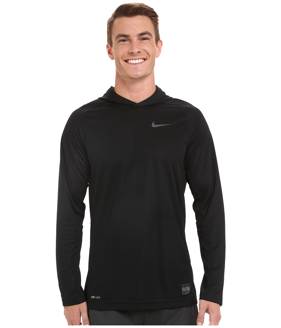 Nike - Elite Hooded Shooter Shirt (Black/Black/Anthracite/Anthracite) Men's Workout