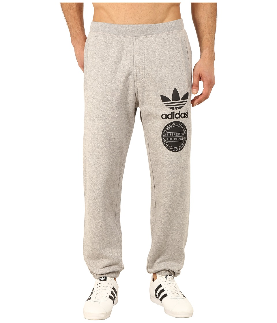 adidas Originals - Street Graphic Sweatpants (Medium Grey Heather/Black) Men's Casual Pants