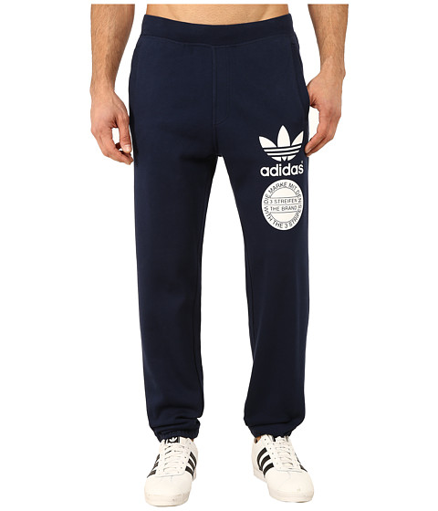 adidas Originals - Street Graphic Sweatpants (Collegiate Navy/White/Scarlet) Men's Casual Pants