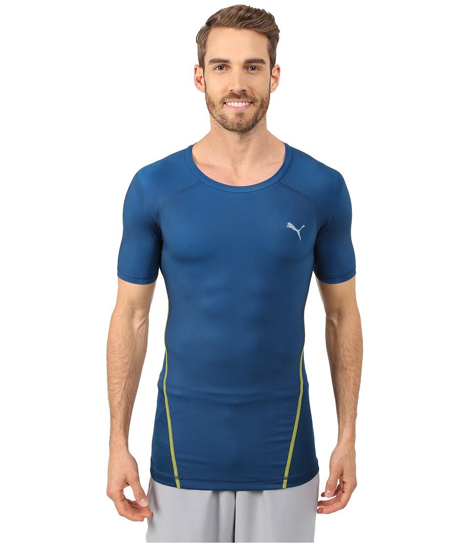 Puma Actv Power Shoulders Tee Poseidon Men 39 S T Shirt