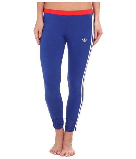 adidas Originals - La Color Block 3-Stipes Leggings (Bold Blue/White/Tomato) Women