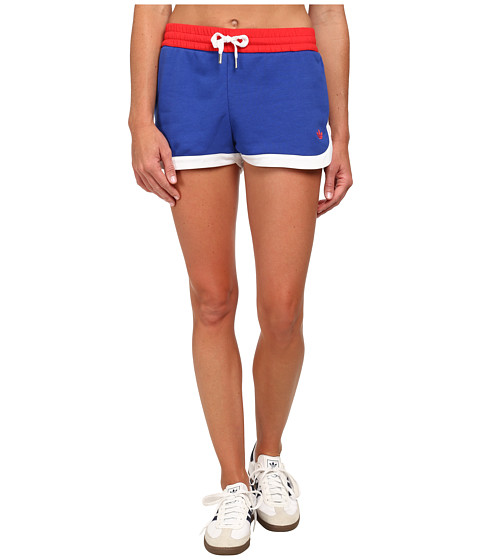 adidas Originals - La Color Block Shorts (Tomato/Bold Blue/White) Women