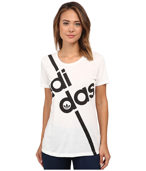 adidas Originals - Fashion Graphics Short Sleeve Tee (White/Black) Women's T Shirt