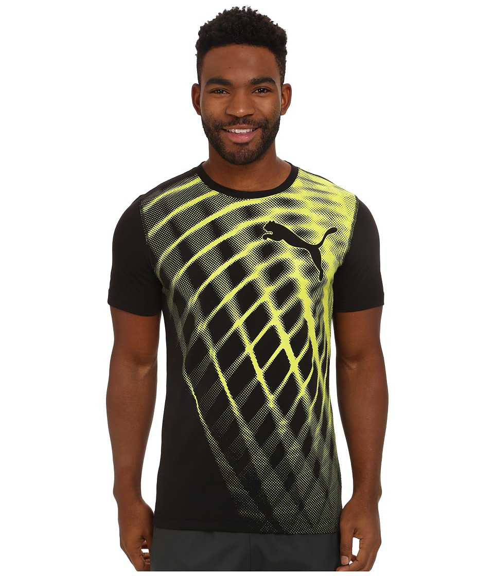 PUMA - Training Blur Tee (Black) Men's T Shirt