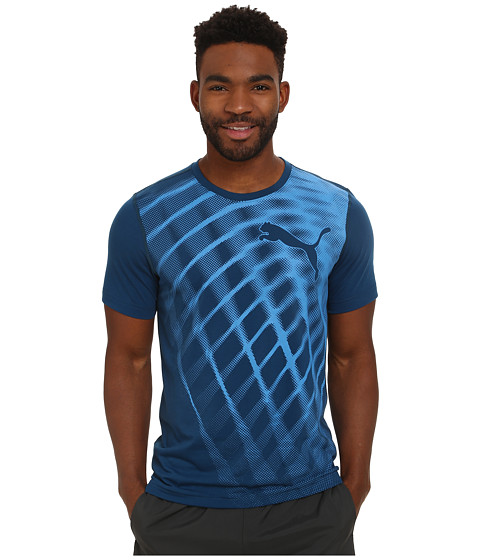 PUMA - Training Blur Tee (Poseidon) Men