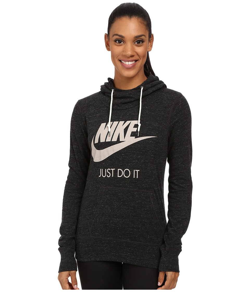 Nike - Gym Vintage Hoodie (Black/Sail) Women's Sweatshirt
