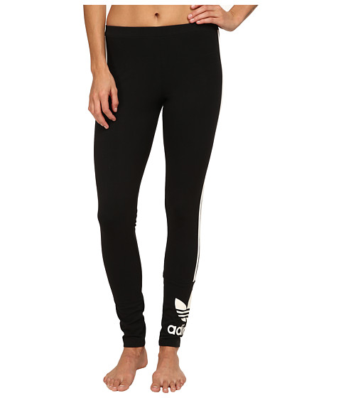 adidas Originals - 3-Stripes Leggings (Black/White 1) Women