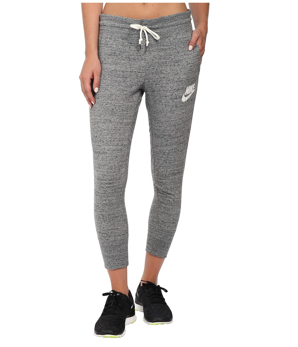 Nike - Gym Vintage Capris (Carbon Heather/Sail) Women's Casual Pants