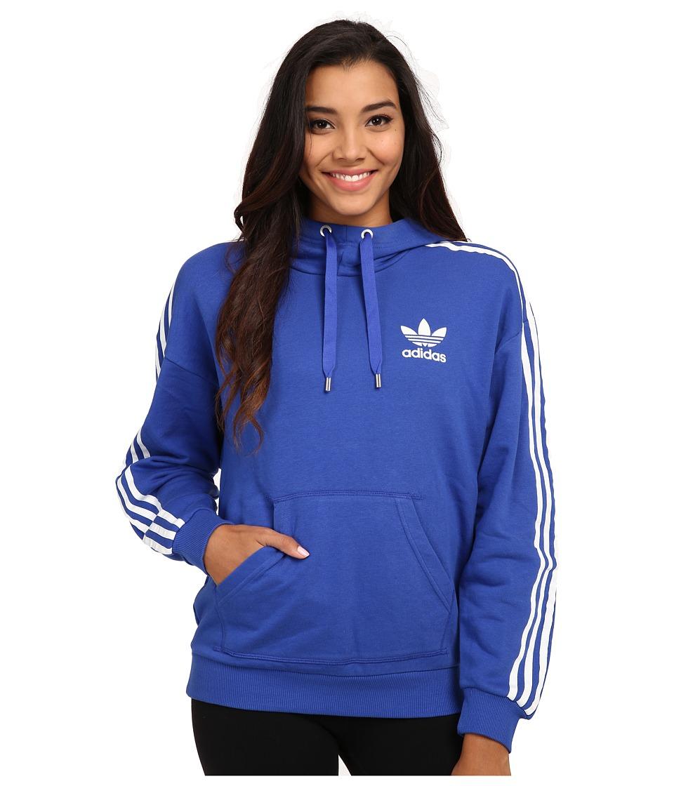 adidas Originals - 3-Stripes Hoodie (Bold Blue/White) Women's Sweatshirt