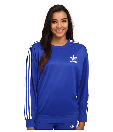 adidas Originals - 3-Stripes Sweatshirt (Bold Blue/White) Women's Sweatshirt