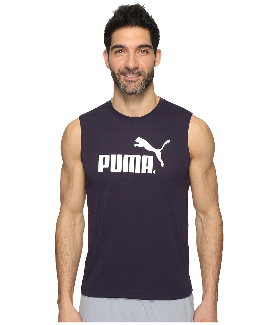 PUMA - Essential No. 1 Logo Sleeveless Tee (New Navy) Men's Sleeveless