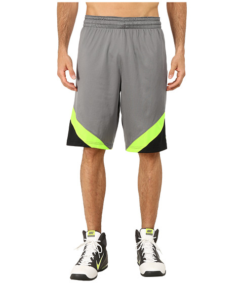 Nike - Breakaway Shorts (Tumbled Grey/Black/Volt/Volt) Men