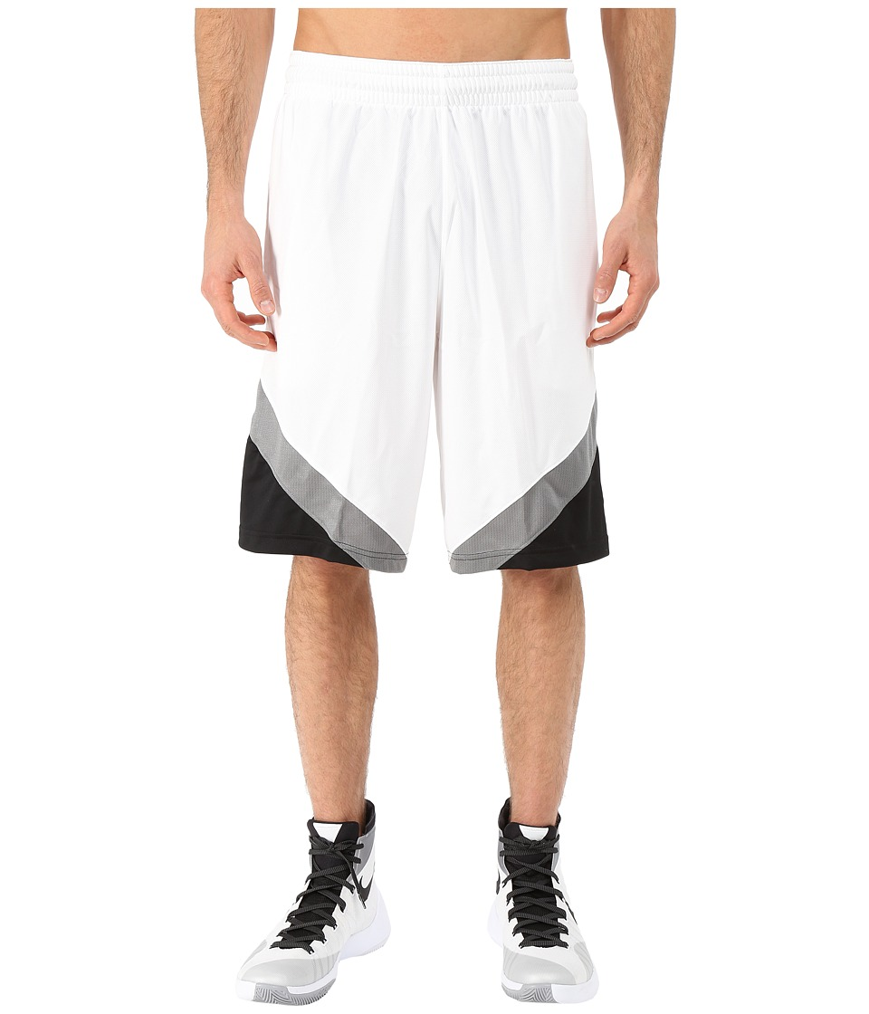 Nike - Breakaway Shorts (White/Black/Tumbled Grey/Tumbled Grey) Men's Shorts