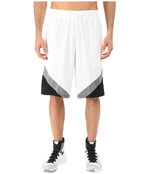 Nike - Breakaway Shorts (White/Black/Tumbled Grey/Tumbled Grey) Men's Shorts