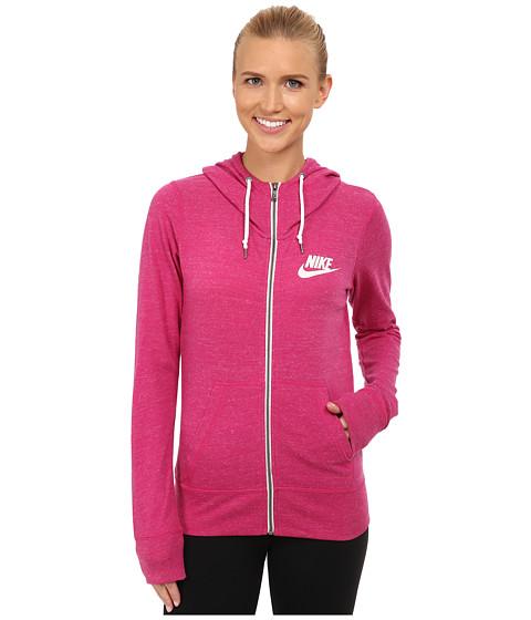Nike - Gym Vintage Full-Zip Hoodie (Sport Fuchsia/Sail) Women's Sweatshirt