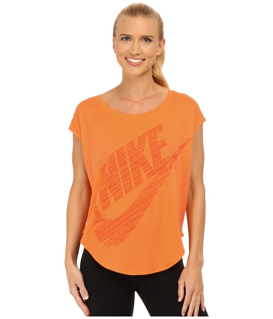 Nike - Signal Tee (Bright Mandarin/Electro Orange) Women