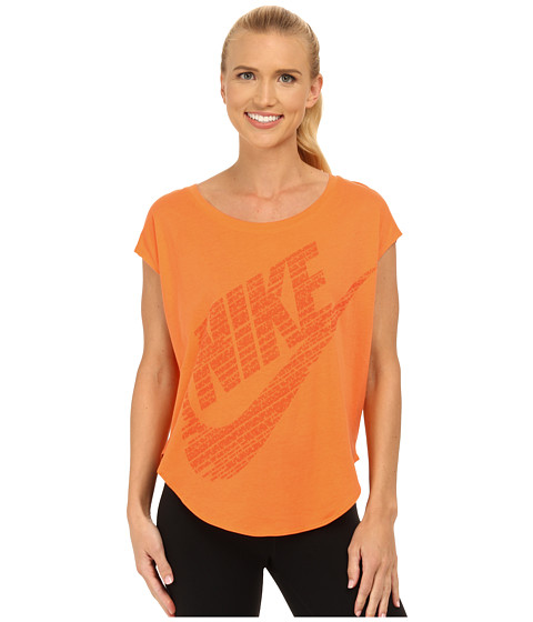 Nike - Signal Tee (Bright Mandarin/Electro Orange) Women