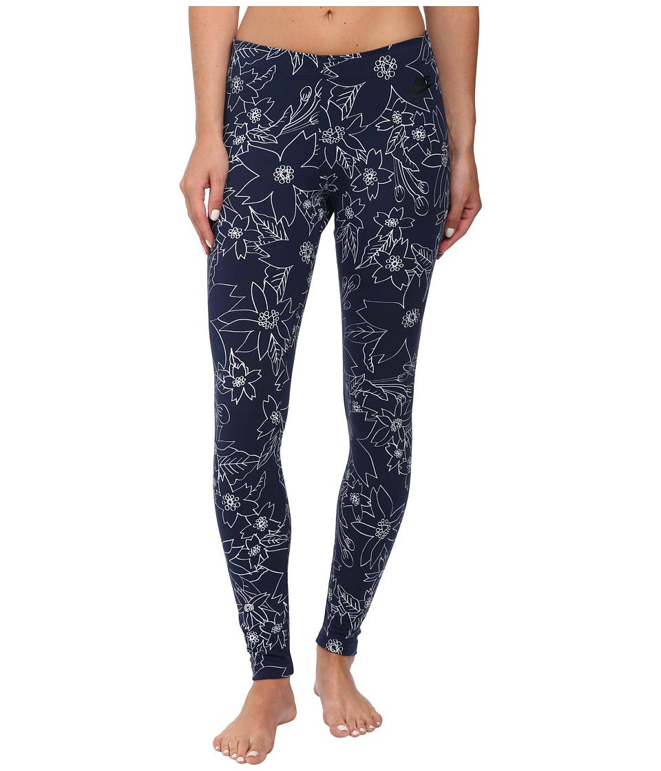 Nike - Leg-A-See Hawaiian 2 (Midnight Navy/Black) Women