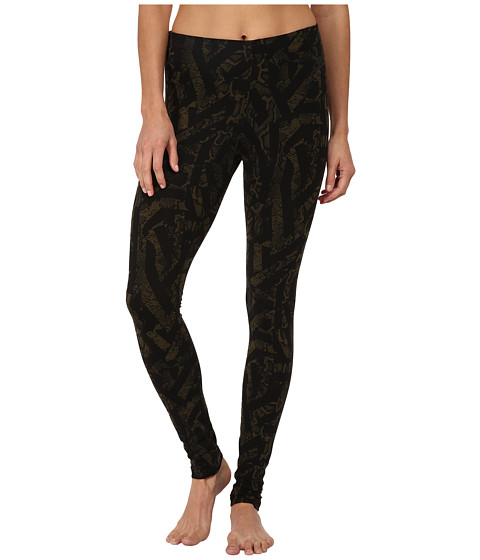Nike - Leg-A-See All Over Print (Dark Loden/Black) Women's Casual Pants