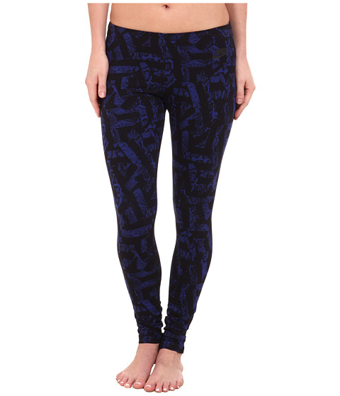 Nike - Leg-A-See All Over Print (Deep Royal Blue/Black) Women's Casual Pants