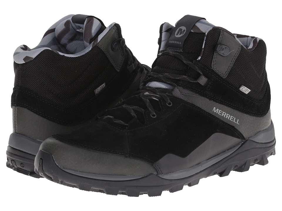 Merrell - Fraxion Mid Waterproof (Black) Men