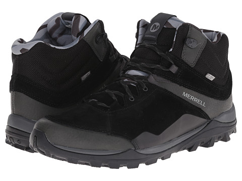 Merrell - Fraxion Mid Waterproof (Black) Men's Hiking Boots