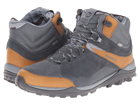 Merrell - Fraxion Mid Waterproof (Brown Sugar) Men