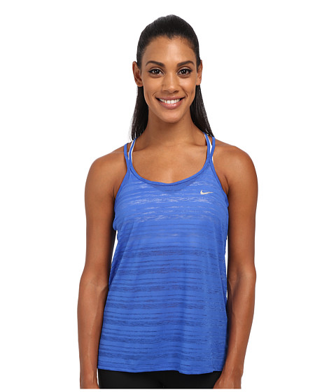 Nike - Dri-FIT Cool Breeze Strappy Tank Top (Game Royal/Reflective Silver) Women's Sleeveless