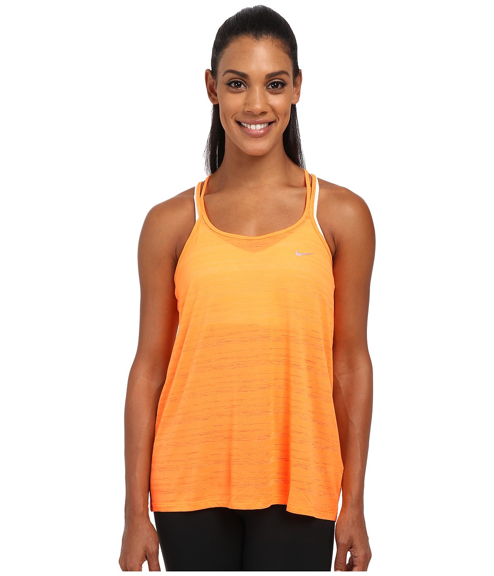 Nike - Dri-FIT Cool Breeze Strappy Tank Top (Bright Citrus/Reflective Silver) Women's Sleeveless