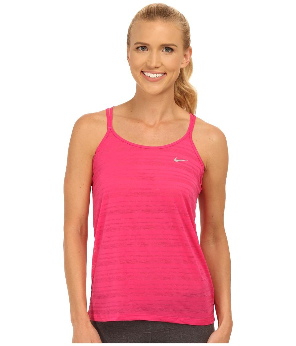Nike - Dri-FIT Cool Breeze Strappy Tank Top (Vivid Pink/Reflective Silver) Women