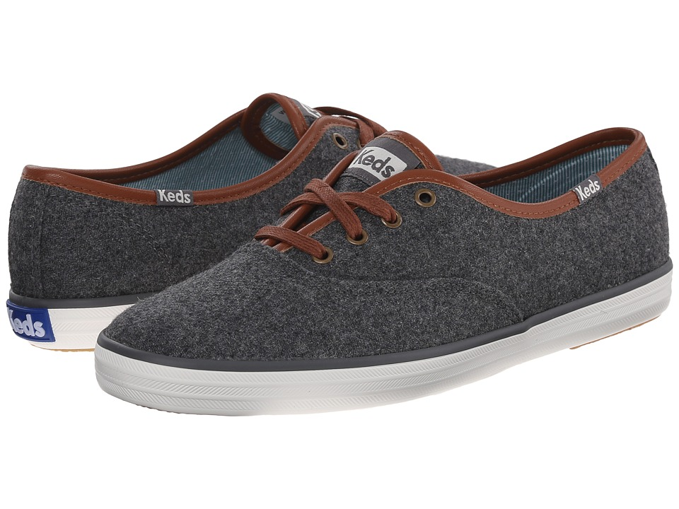 Keds - Champion Wool (Charcoal Heathered Wool) Women
