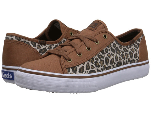 Keds - Double Up Wool (Leopard Canvas/Wool) Women's Lace up casual Shoes