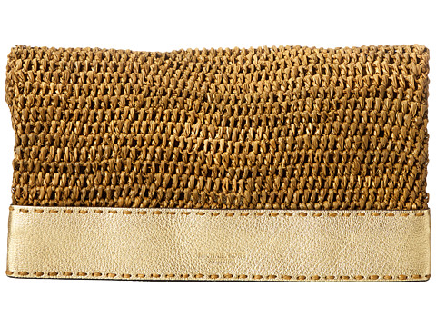 Michael Kors - Santorini Medium Clutch (Gold) Clutch Handbags