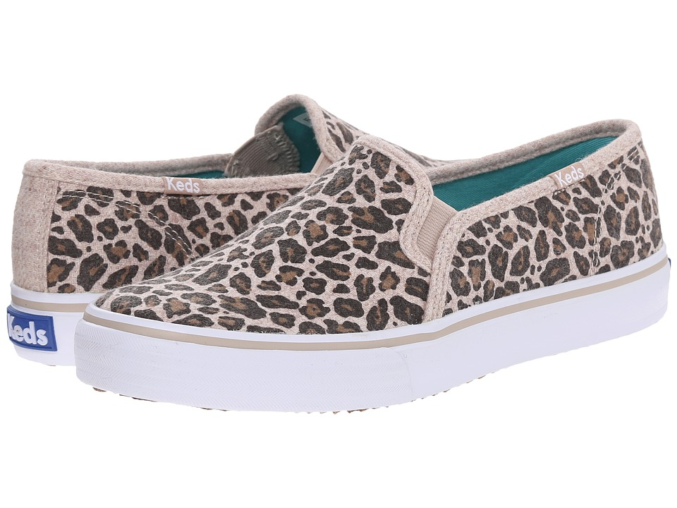 Keds - Double Decker Leopard Wool (Leopard Heathered Wool) Women's Lace up casual Shoes
