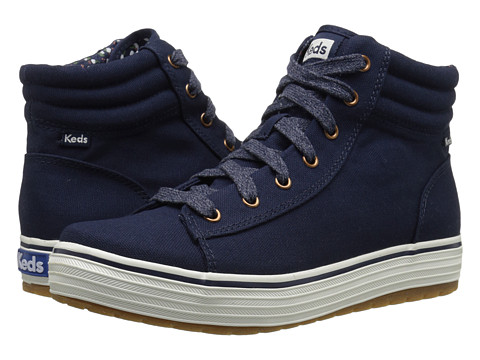 Keds - High Rise Lace Up (Navy Canvas) Women