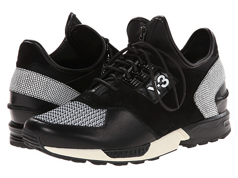 adidas Y-3 by Yohji Yamamoto - ZX Zip (Black/Black/Chalk White) Women's Shoes