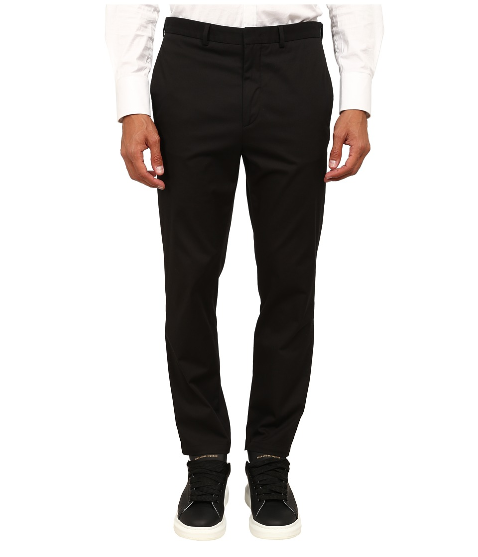 McQ - Flat Front Chino (Darkest Black) Men's Casual Pants