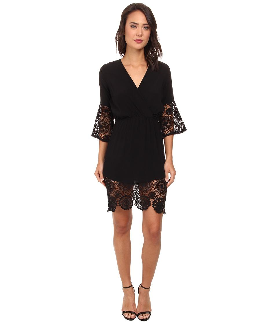 Gabriella Rocha - Brenda Lace Accent Dress (Black) Women's Dress
