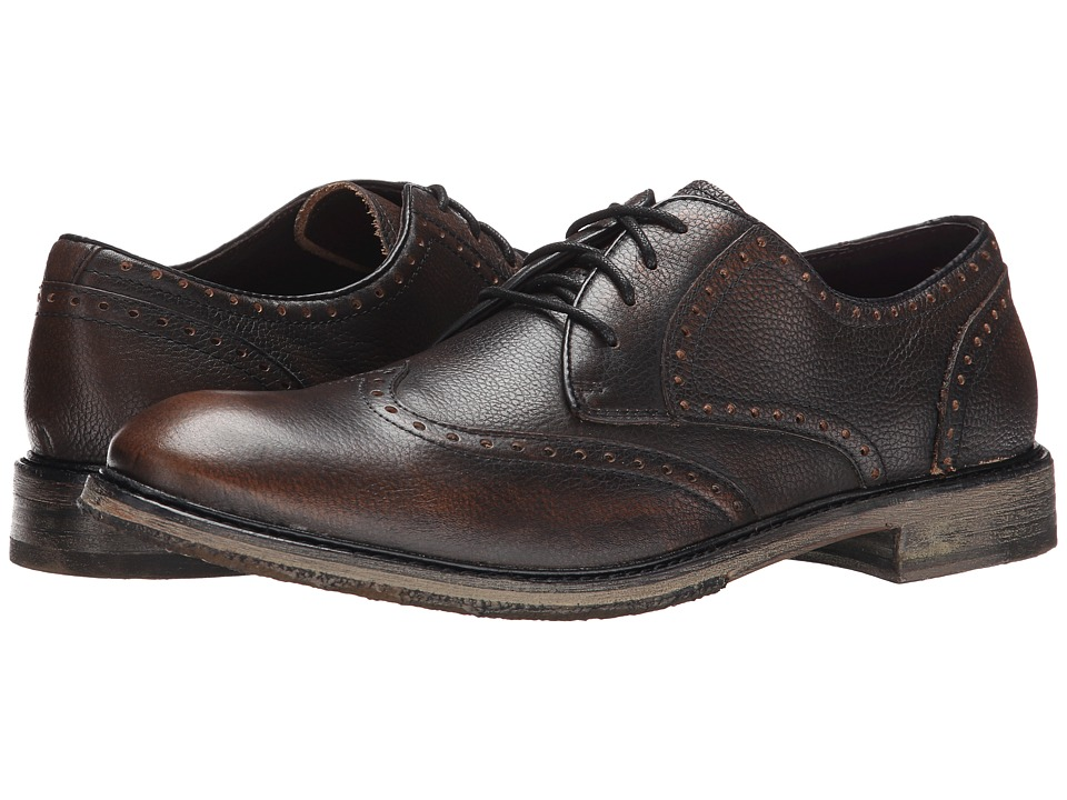 John Varvatos - Sid Crepe Wingtip (Walnut) Men's Shoes