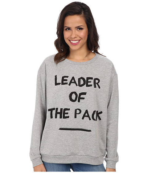 MINKPINK - Leader Of The Pack Sweater (Grey Marle) Women's Sweatshirt