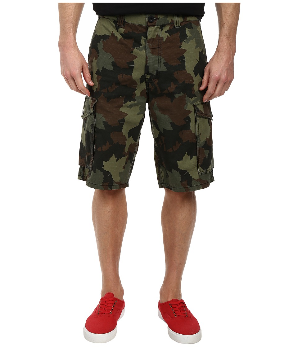 L-R-G - RC Classic Cargo Shorts (Olive Camo) Men's Shorts