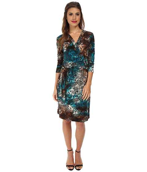 Gabriella Rocha - Danika Shift Dress w/ Tie Belt (Navy/White) Women