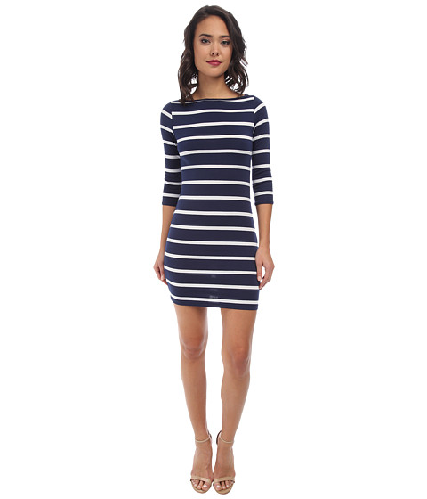 Gabriella Rocha - Gena Stripe Dress (Navy/White) Women's Dress