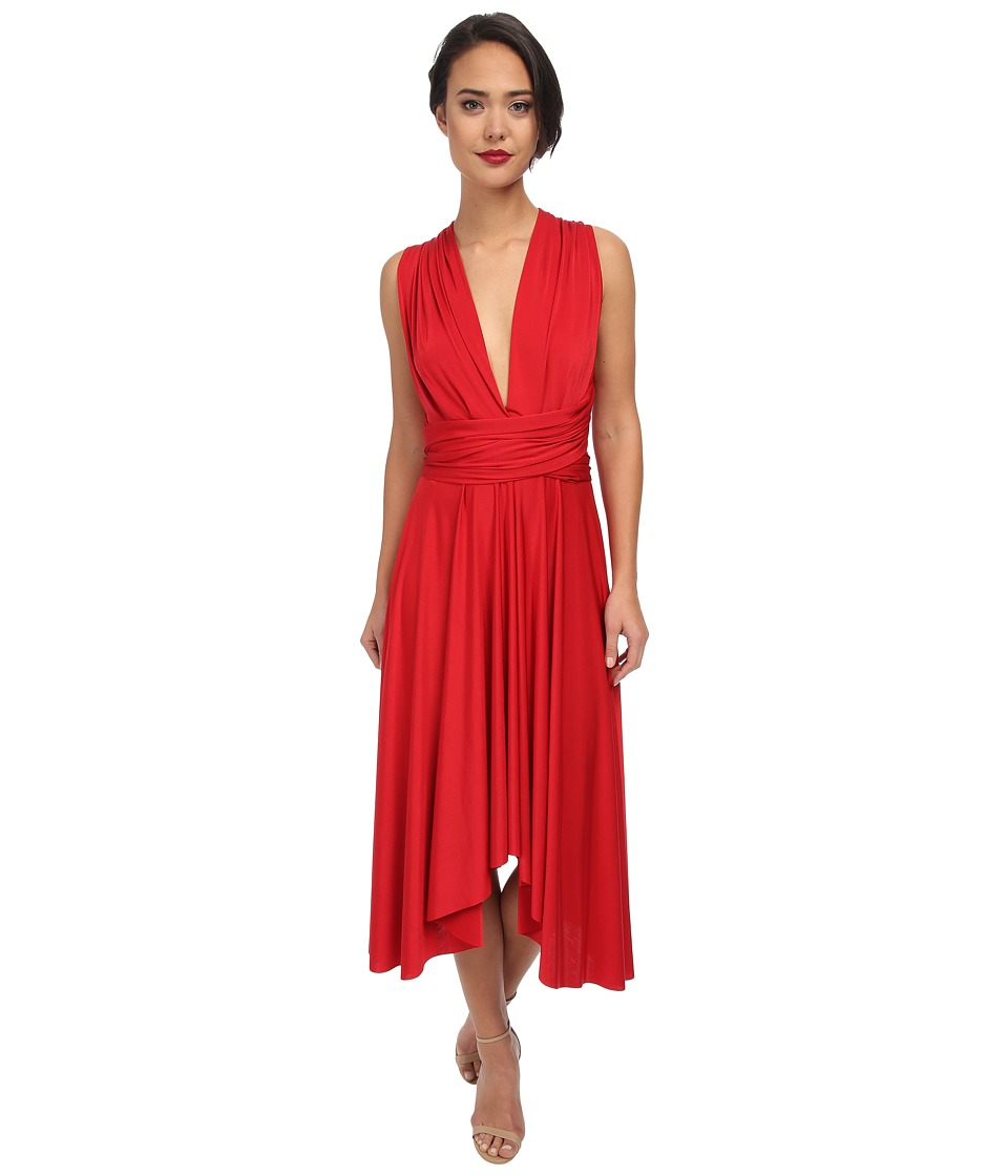 Gabriella Rocha - Butterfly Sleeve Dress (Red) Women's Dress